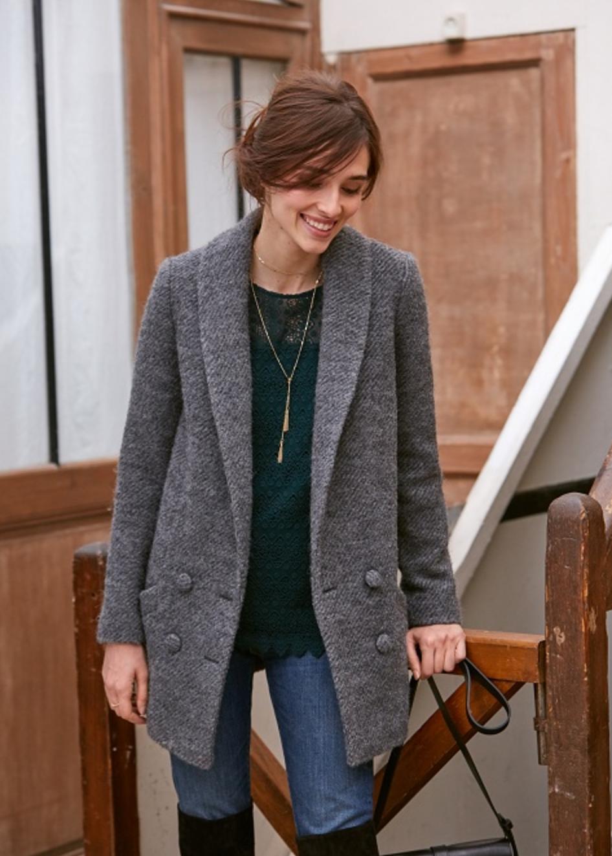 Jagger Coat  in Medium Grey