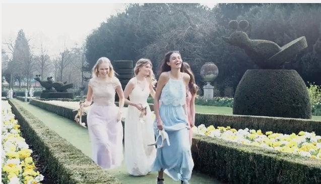Not bad being paid to spend the whole day running around in a beautiful maze made out of flowers <3 but it was actually hard work, as we all had to wear heels all day long...