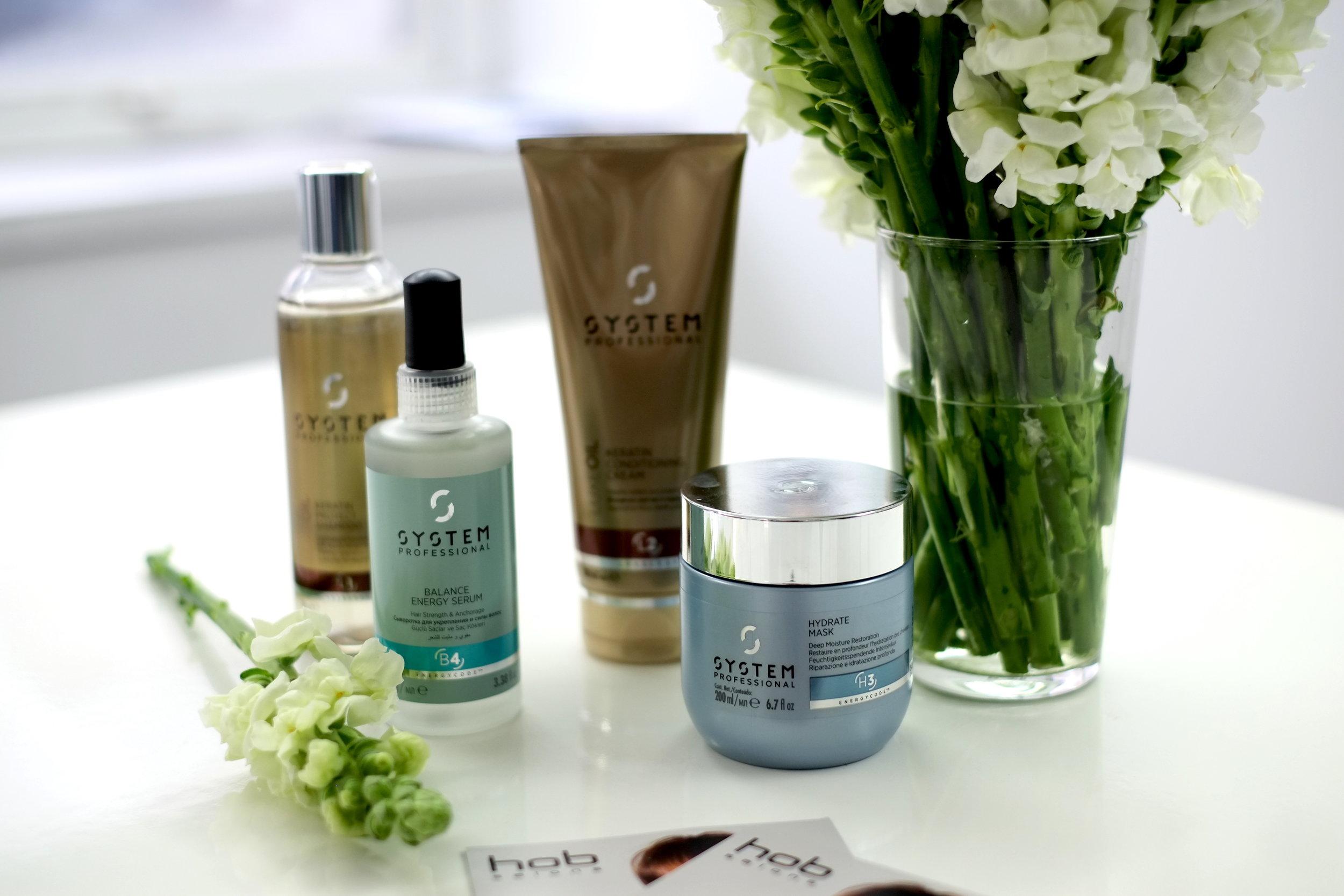 Keratin Protect  Shampoo,  Balance Energy  Serum,  Keratin  Conditioning Cream,  Hydrate  Mask
