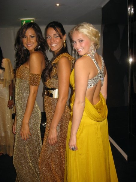 Here together with Miss Jamaica and Miss Gibraltar in the middle here who went on to win the Miss World title