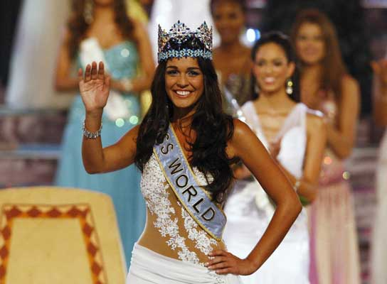 The 2009 winner - Kaiane Lopez from Gibraltar