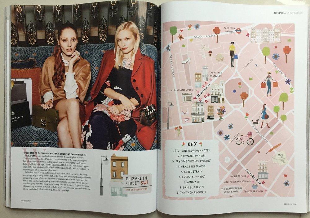Elle and Sara in Brides Magazine