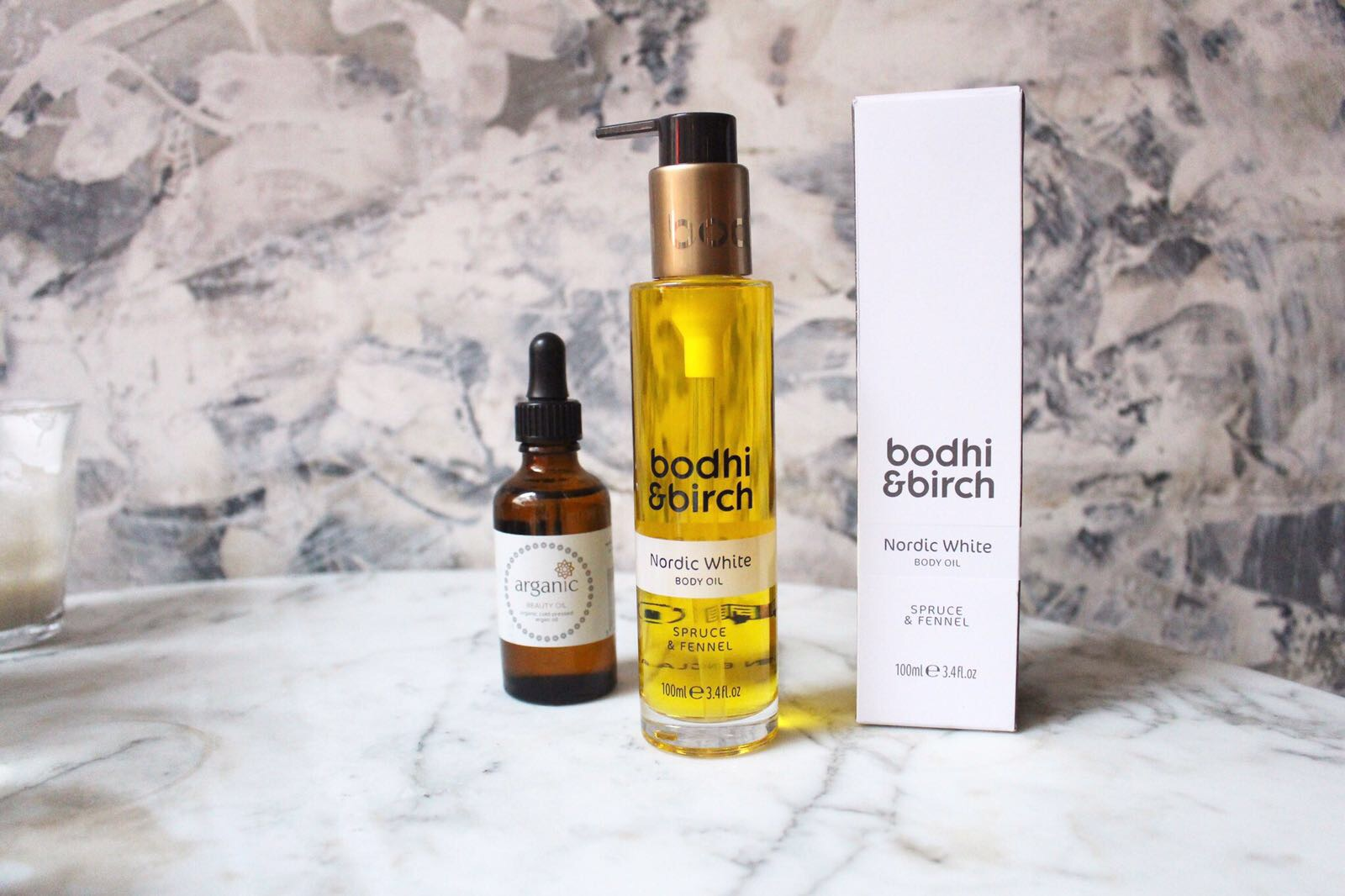 The Nordic White body oil from bodhi & birch