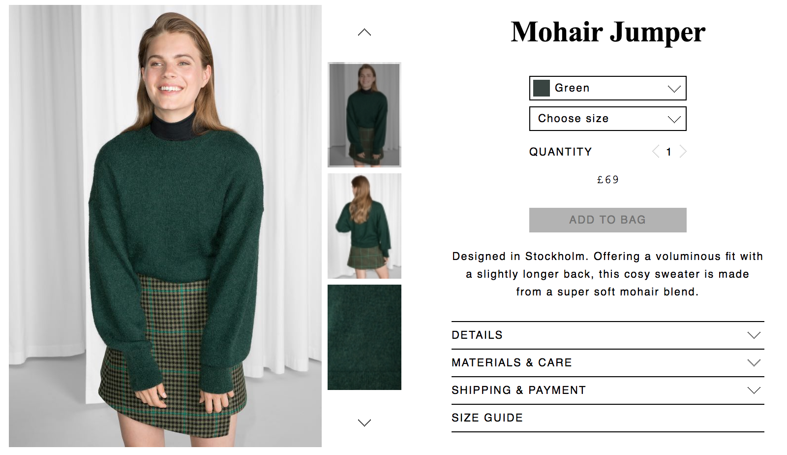 Purchase this green jumper   here