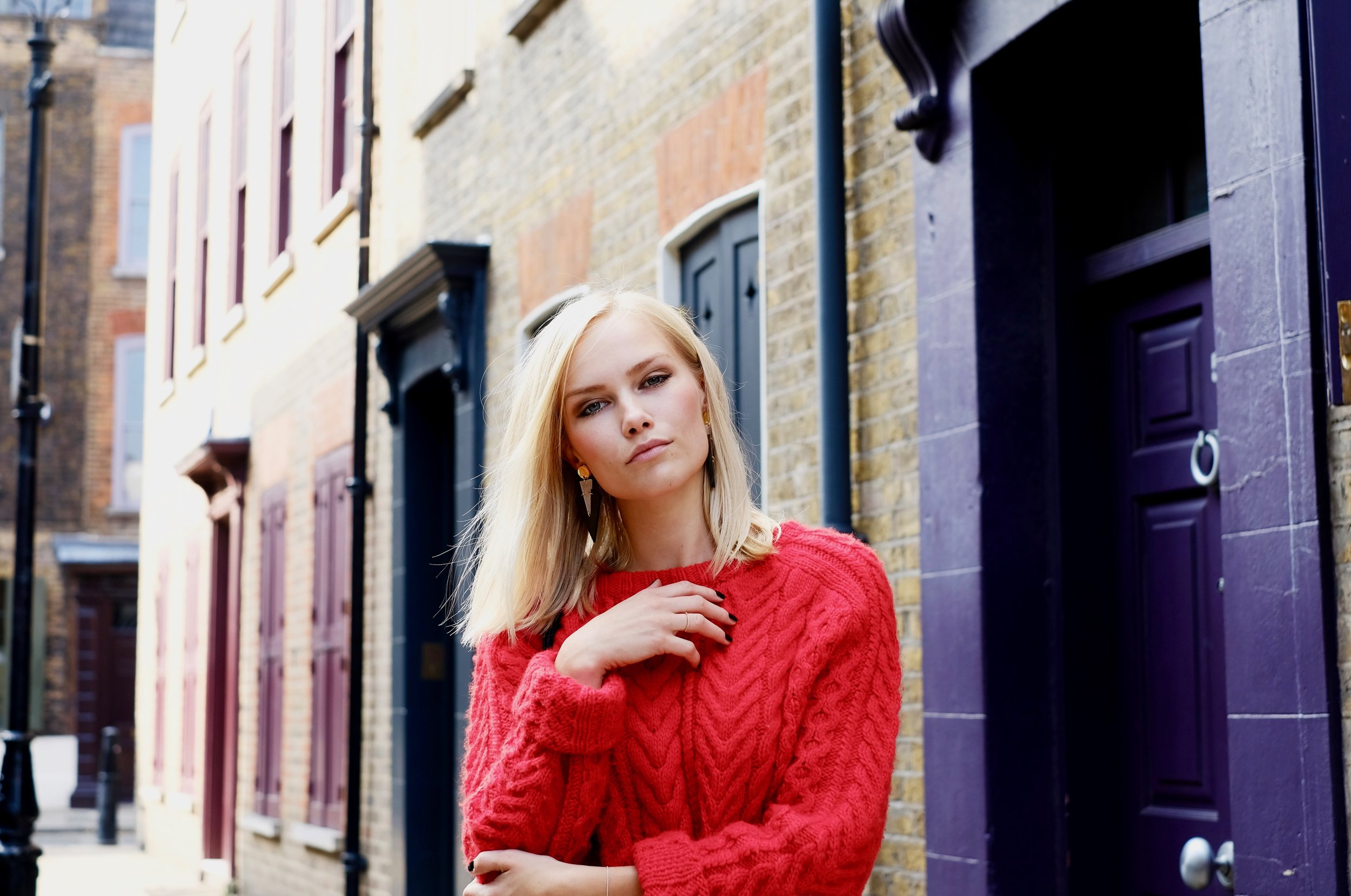 Be bold and go for a bright colour for you knit!