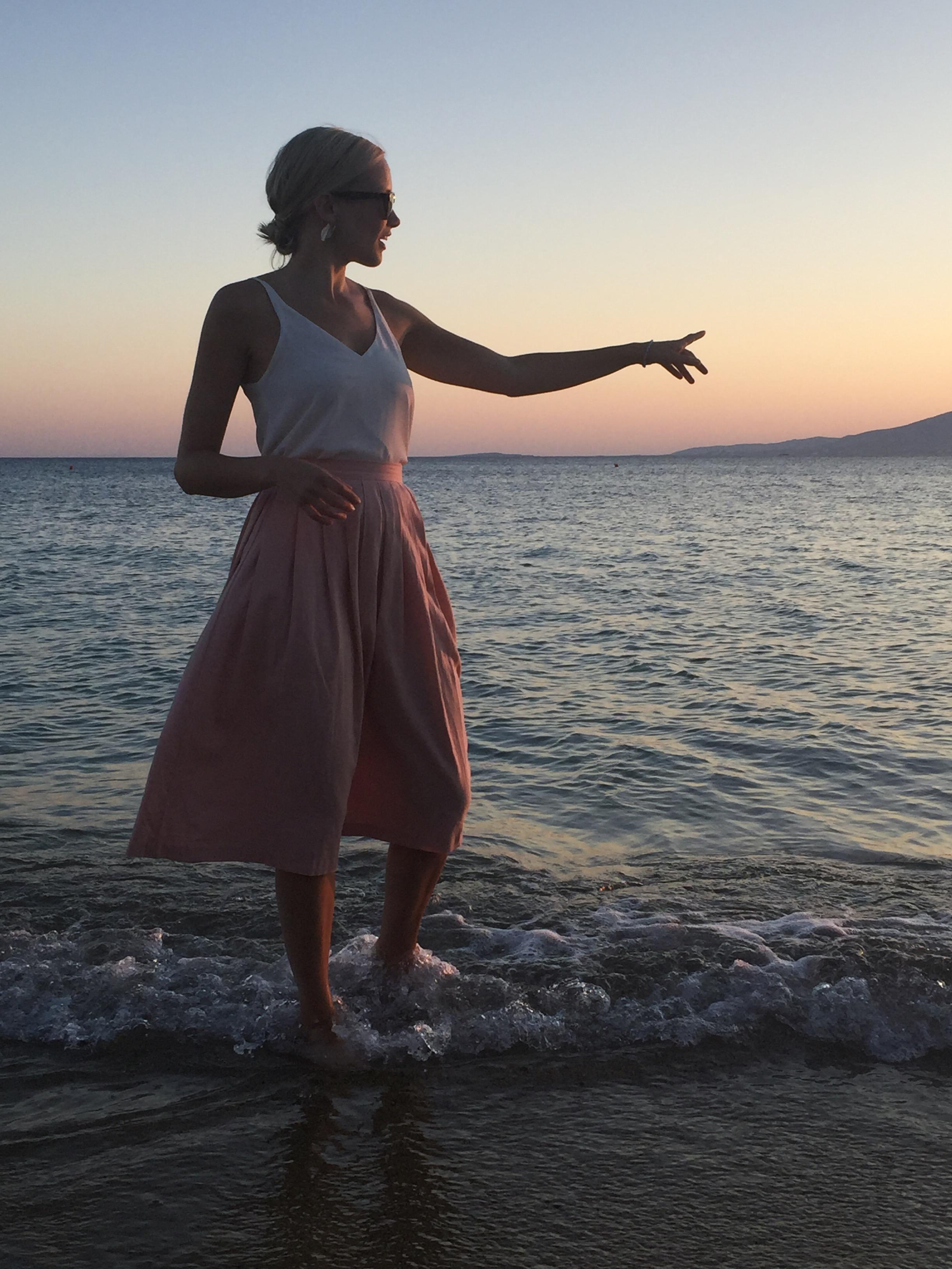 Evening beach stroll at Agia Anna, Naxos