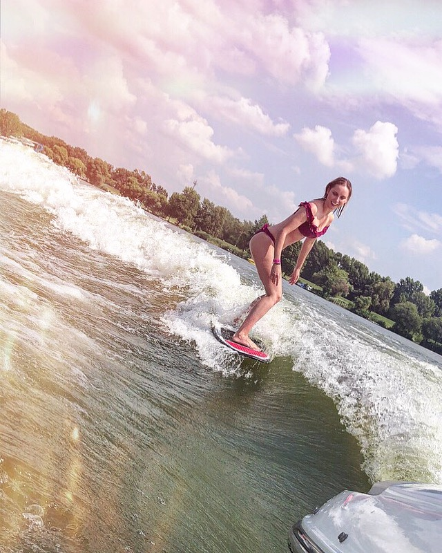 Why I love wakesurfing so much - Why wouldn't you. You have water, swimwear, sunshine, a boat, speed and freedom. Sold. Oh and you're getting a full body workout too. ;)