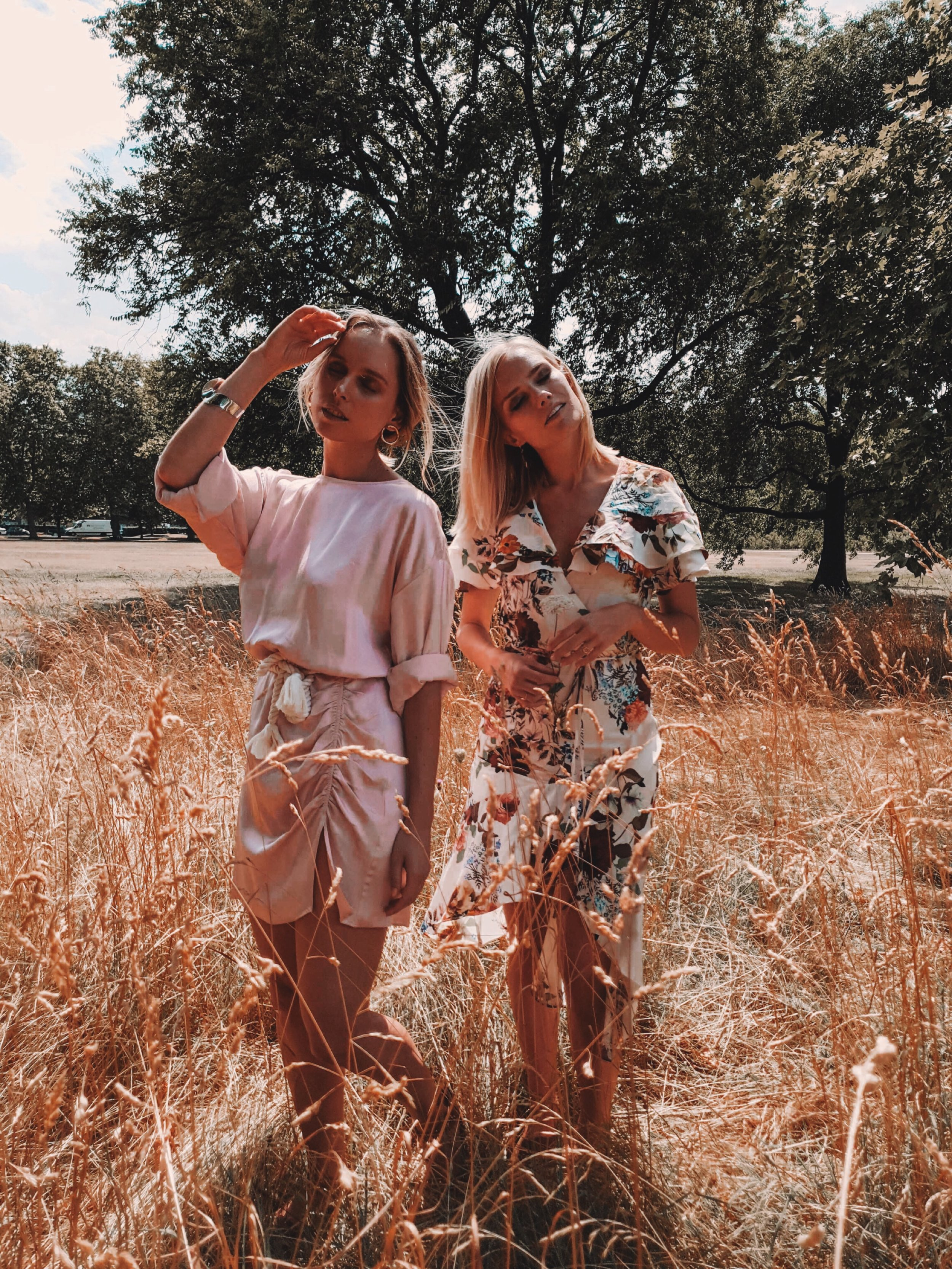 A DREAMY FEEL - We kept to a street style theme, by shooting the imagery so you can see the clothing but also having Sara and Zsnaett in positions that create a 'dreamy' feel. Styling clothes before a shoot is so important - they need to suit the location that you are shooting in as it can really make or break the image! Sara and Zsnanet wore beautiful dresses that were perfect for the location, I wanted the images to feel dreamy and with the dresses being able to move, it was perfect!
