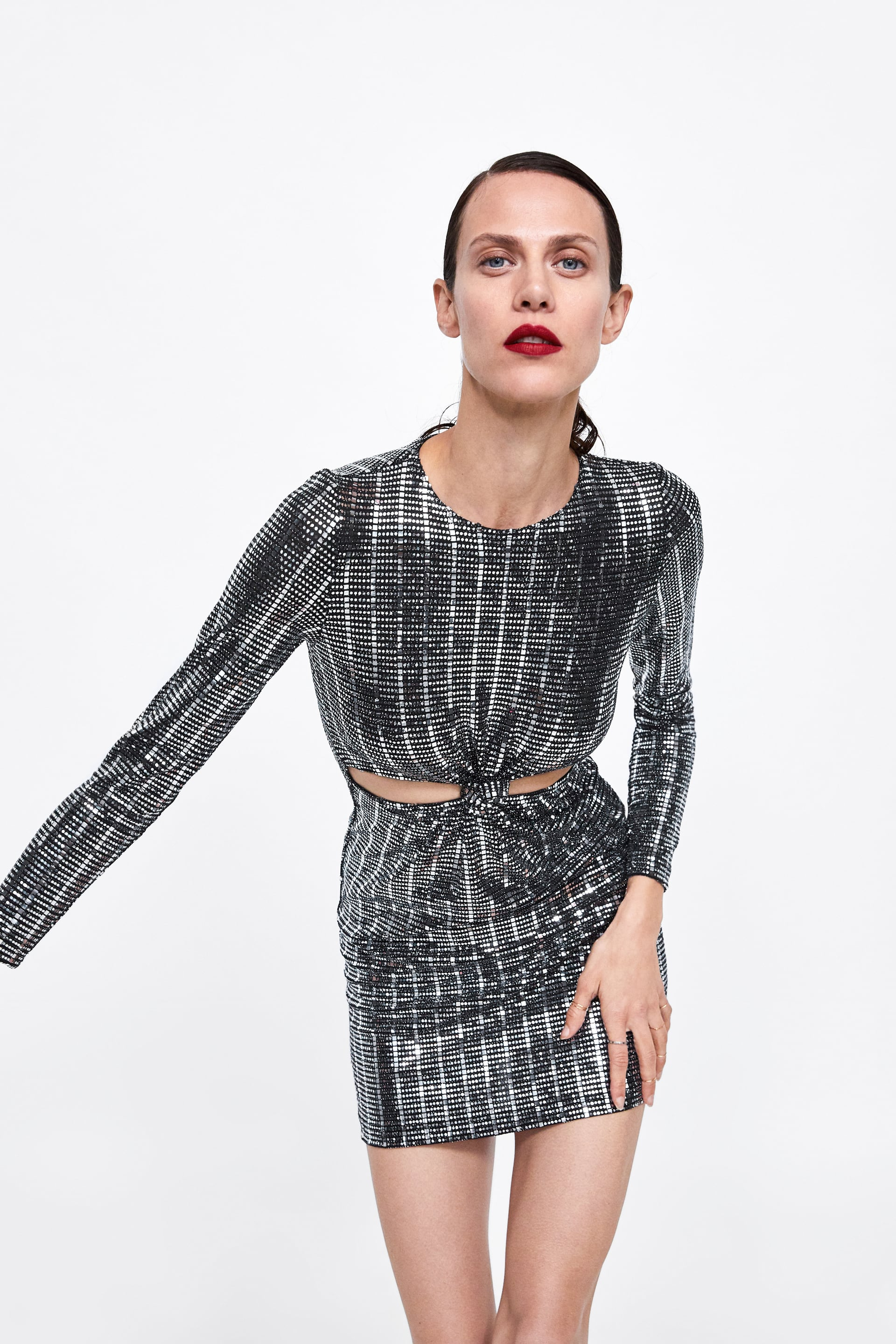Black and Silver Sequin Dress from Zara -  Shop here!