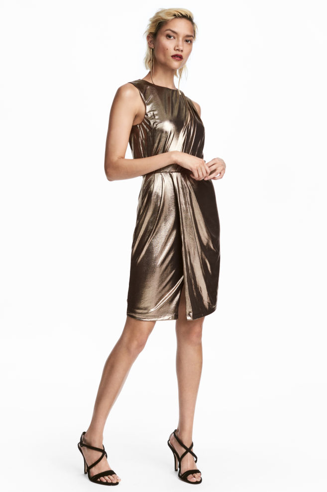 Gold Metallic Dress from H&M -  Shop here!