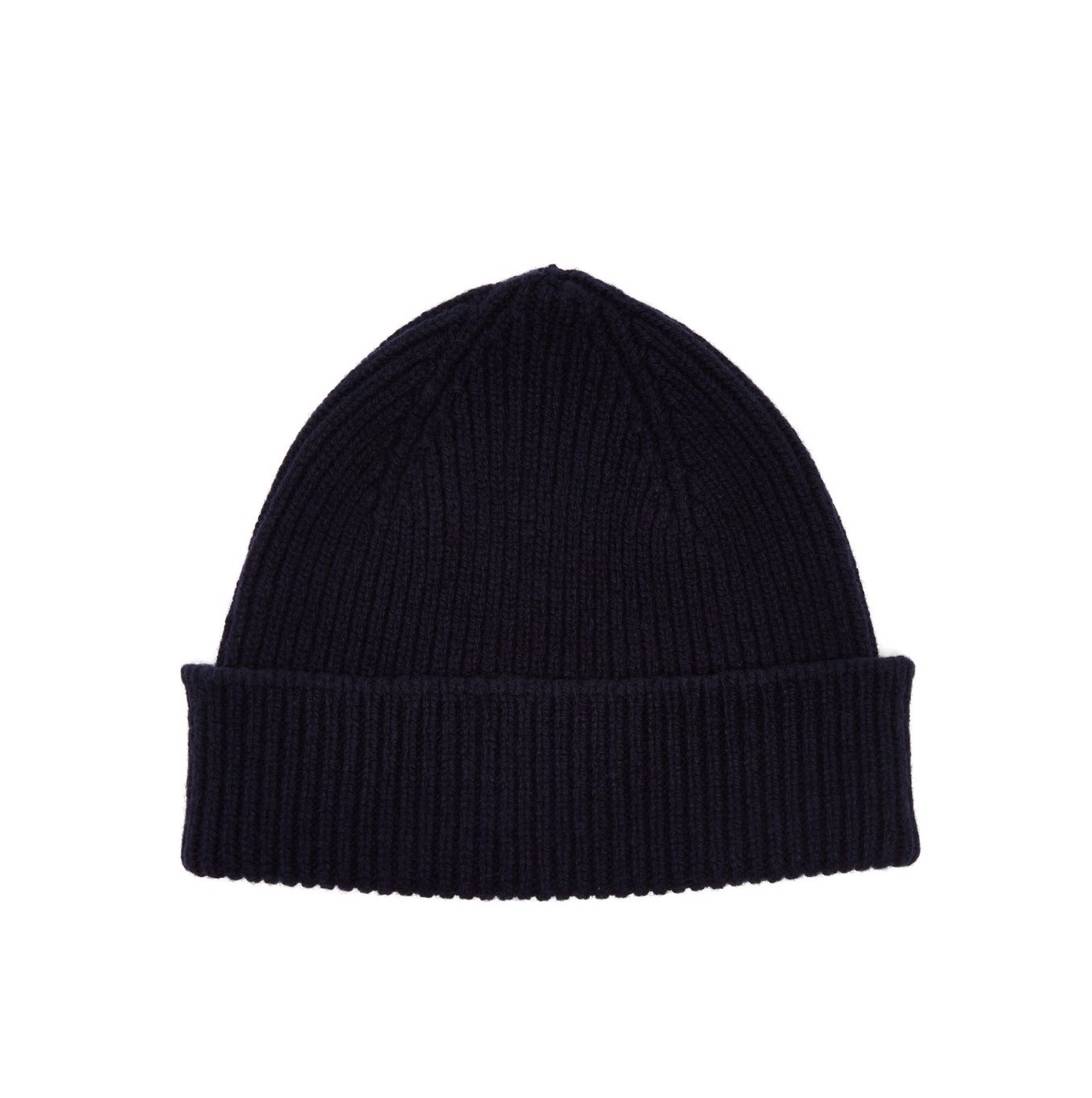Cashmere and merino wool blend beanie - PAUL SMITH Classic and luxurious fabrics are combined for this dark navy beanie hat by Paul Smith. It's made in Scotland from a mid-weight cashmere and merino wool blend and the ribbed composition has a note of stretch for the perfect fit. Buy it here