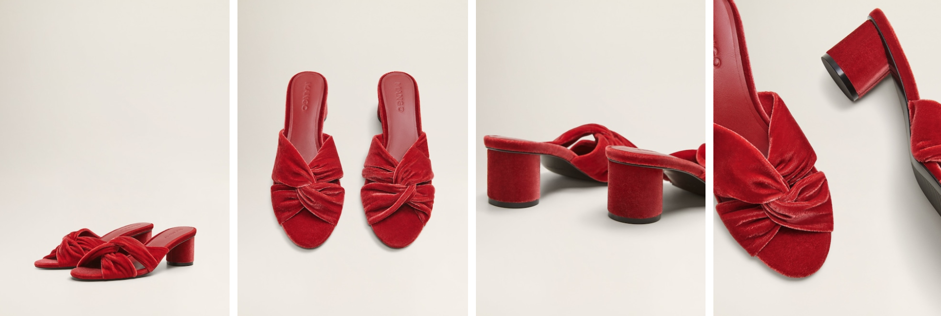 Cute knot velvet sandals - Find them here