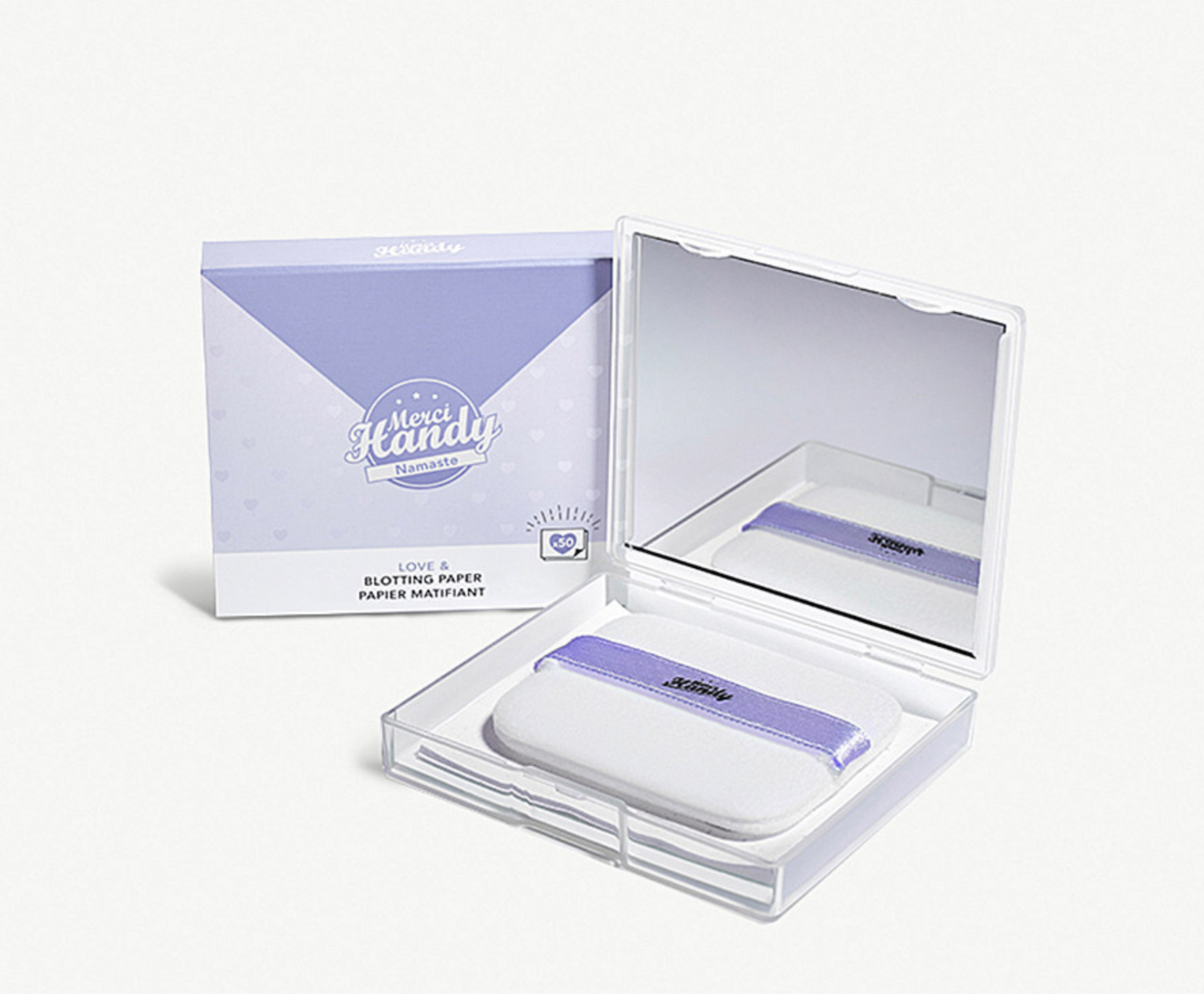 MERCI HANDY -Namaste Blotting Papers -£6.00 - A godsend for those who tend to get a little shiny throughout the day, the Namaste Blotting Papers absorb any unsightly oil to leave your complexion feeling matte and fresh. With the natural Manila hemp scent is a serious bonus, right?