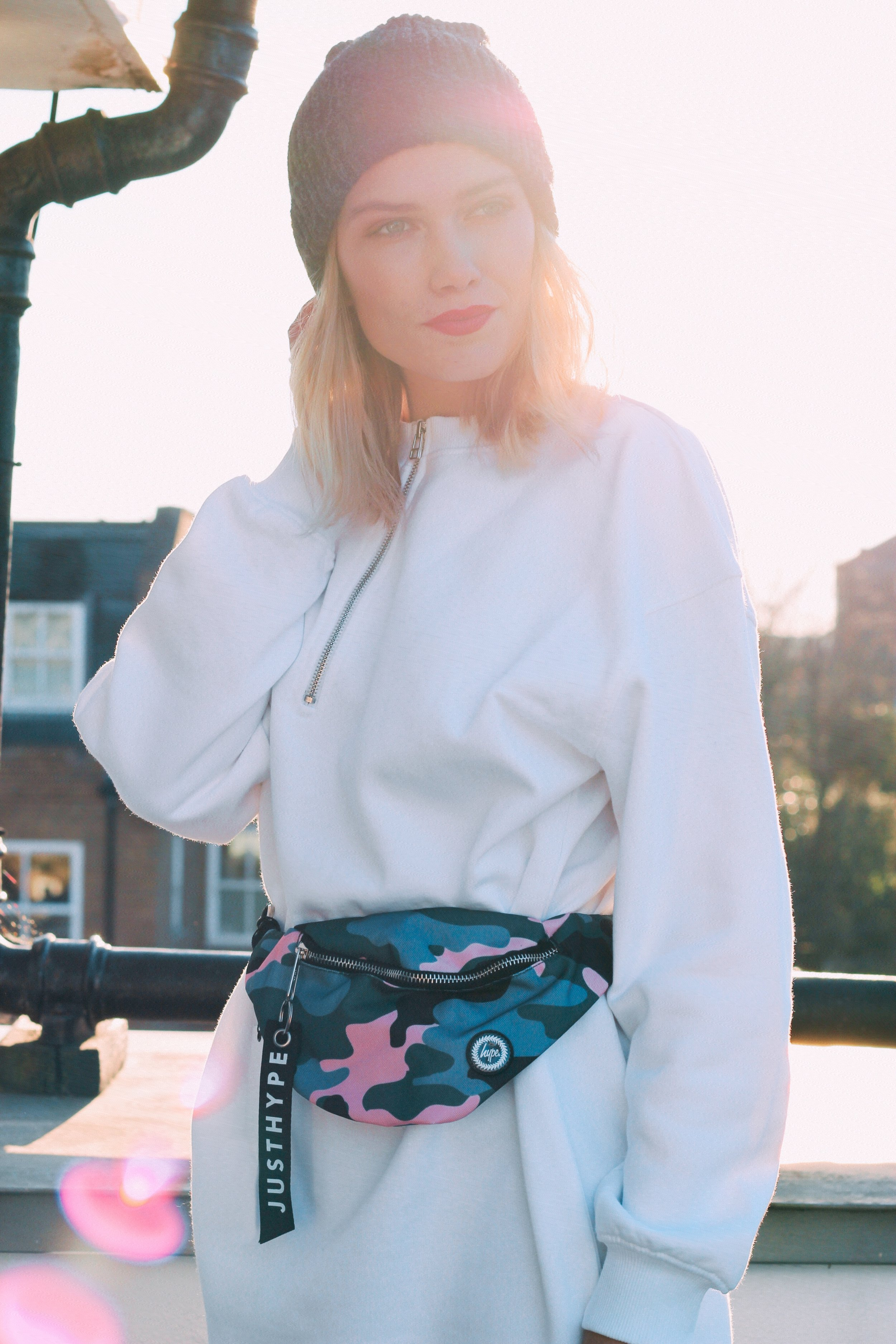 WAIST BAG - Love this little multicoloured Camo Print Bum Bag from Hype!The perfect accessory to spice up a simple white oversized dress.Find it in the shop further down in the post!