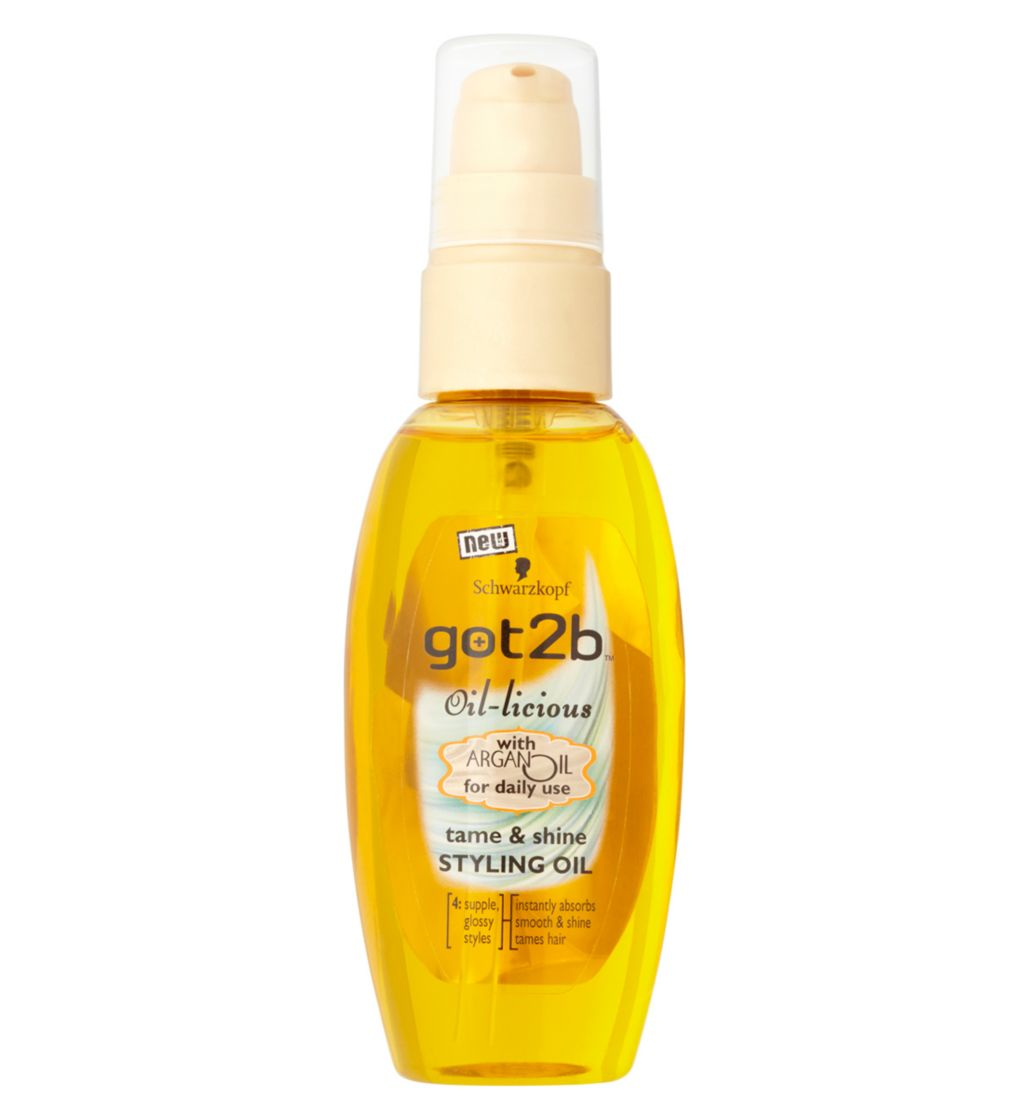 Schwarzkopf got2b Oil-licious Styling Oil 50ml - I've been using this got2b oil for years! And this small bottle last you a long time! It's my absolute favourite product which I can't live without anymore. The non-greasy formula enriched with Argan Oil absorbs instantly leaving your hair smooth and full of shine! Perfect for dry ends and frizz.Buy it here