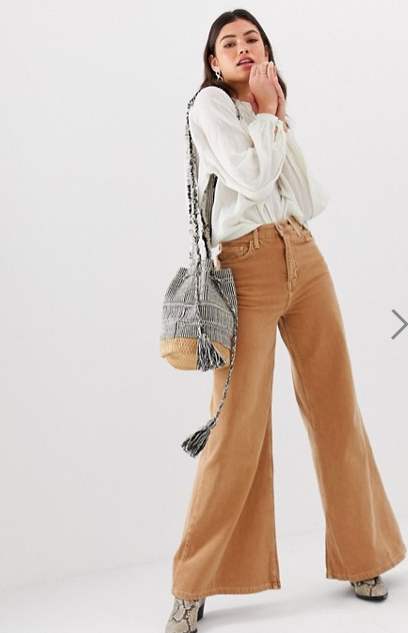 Free People high rise wide leg jeans