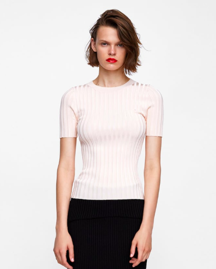 RIBBED SWEATER from Zara