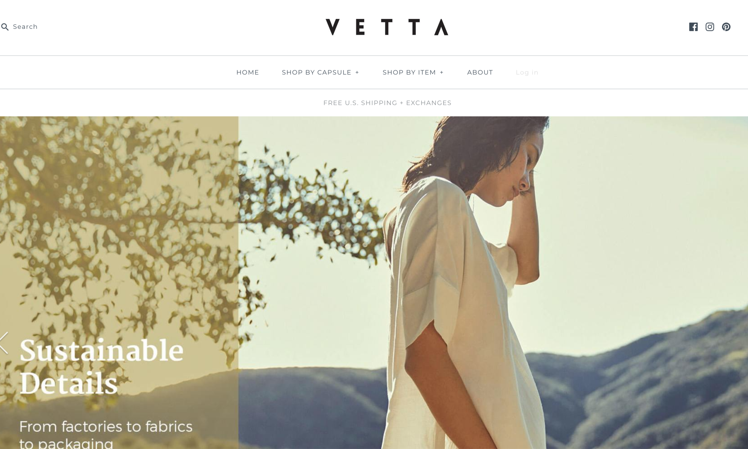 VETTA - Shop VETTA for sustainable wardrobe staples. The website features 5 piece capsule collections that show how to create 30 looks with only the pieces in the collection. Not to mention all of the clothes are very affordable! For a minimalist at heart, this is the perfect store to shop.