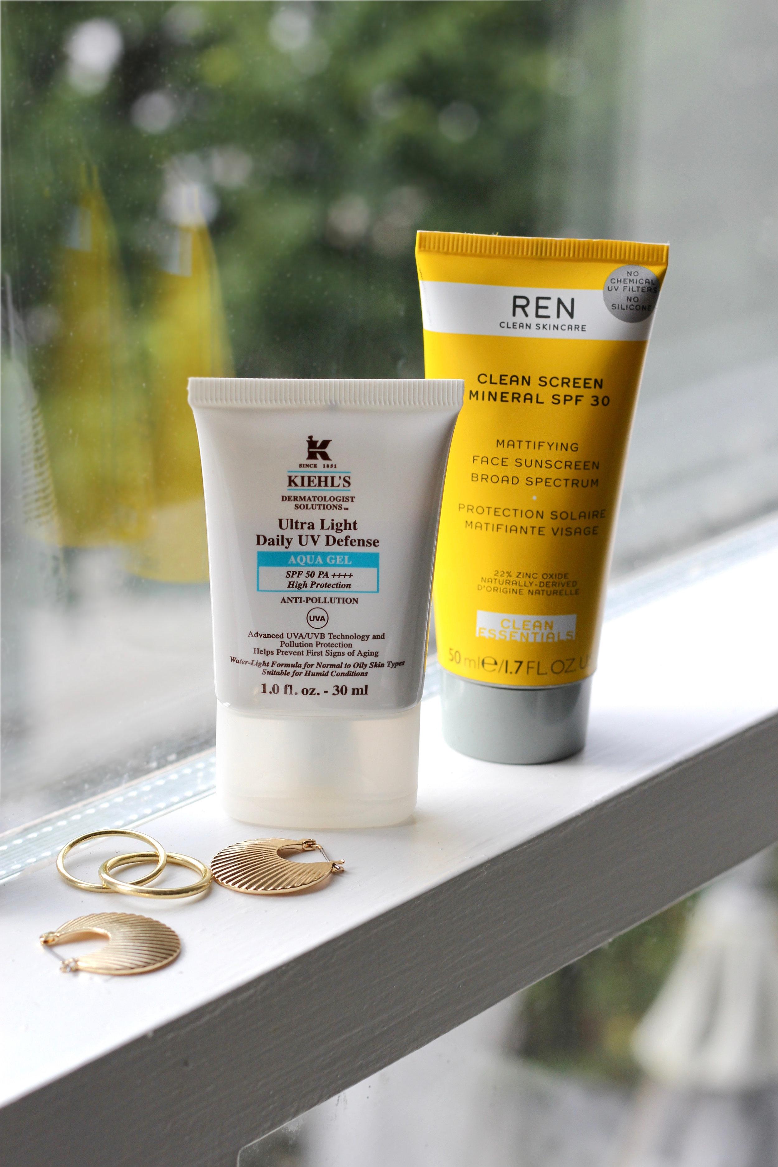 Kiehl's and REN spf face cream.jpg
