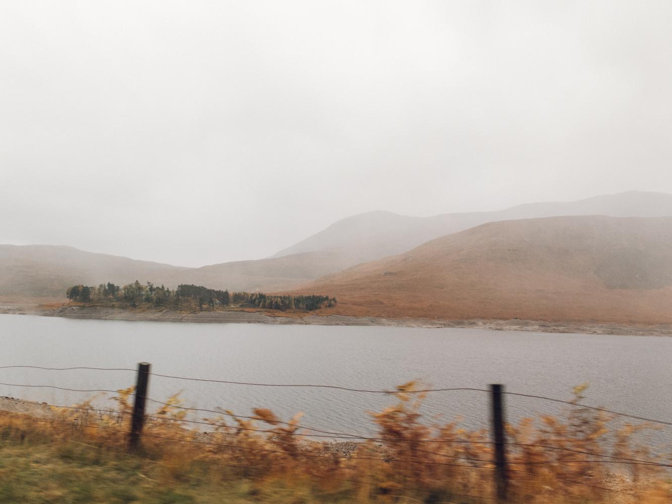 Haarkon Water Loch Scotland Travel Tree Weather Rain