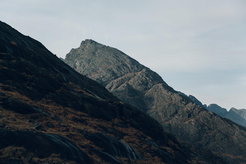 Haarkon Harkon Mountain Cuillin Range Hill