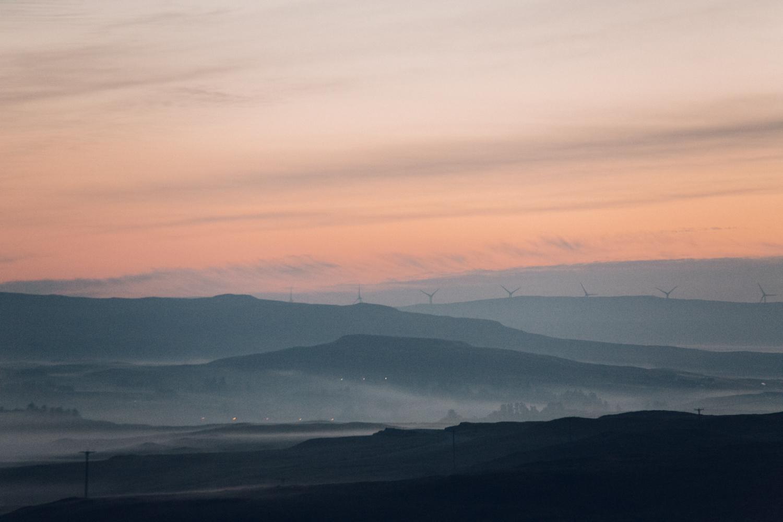 Haarkon Sunrise Sun Morning Dunvegan Hills Turbine Scotland Skye