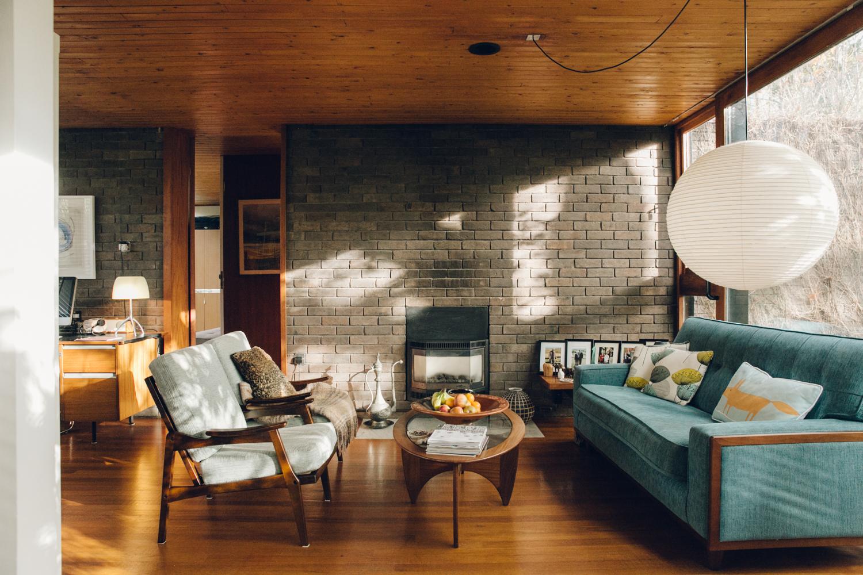 Haarkon Living Room Interior Home House Design Modernist Midcentury Furniture Light