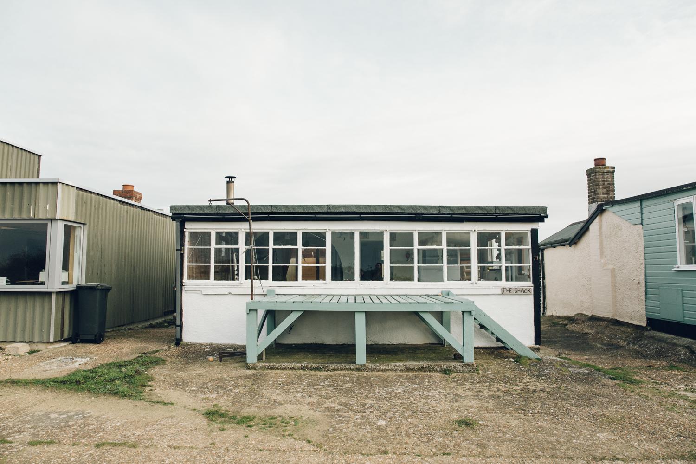 Haarkon Snettisham Beach RSPB Nature Reserve Norfolk The Wash Sand Bird Landscape View Vista Building Architecture Design House Hut Shed