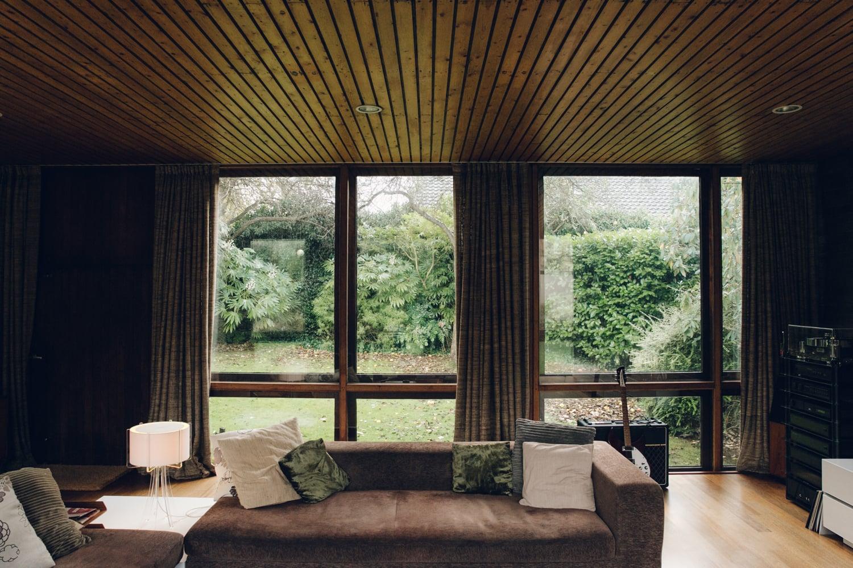 Haarkon House Design Architecture Modernist Interior window glass glazing view garden