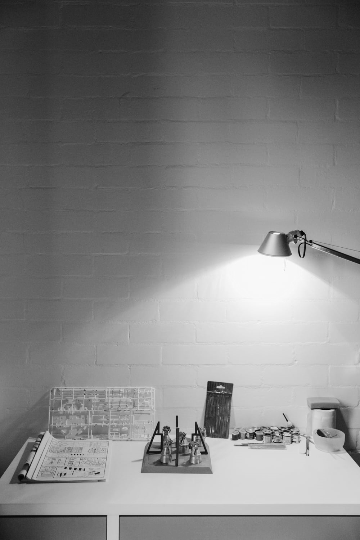 Haarkon House Design Architecture Modernist Interior desk work office home lamp