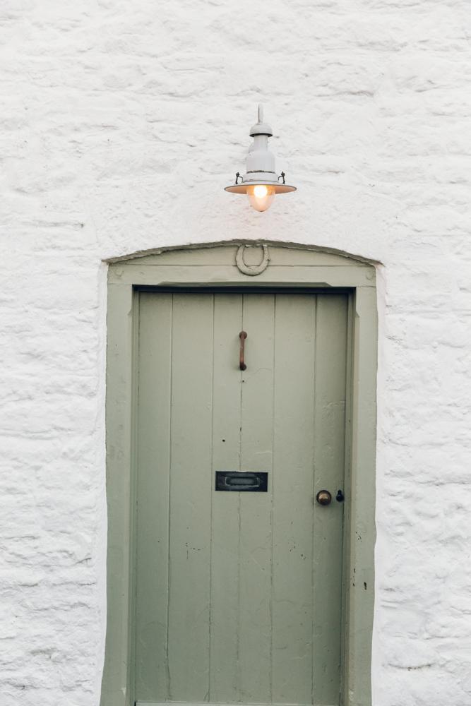 Haarkon Old Radnor Harp Cottage Wales Powys Accommodation Holiday door light