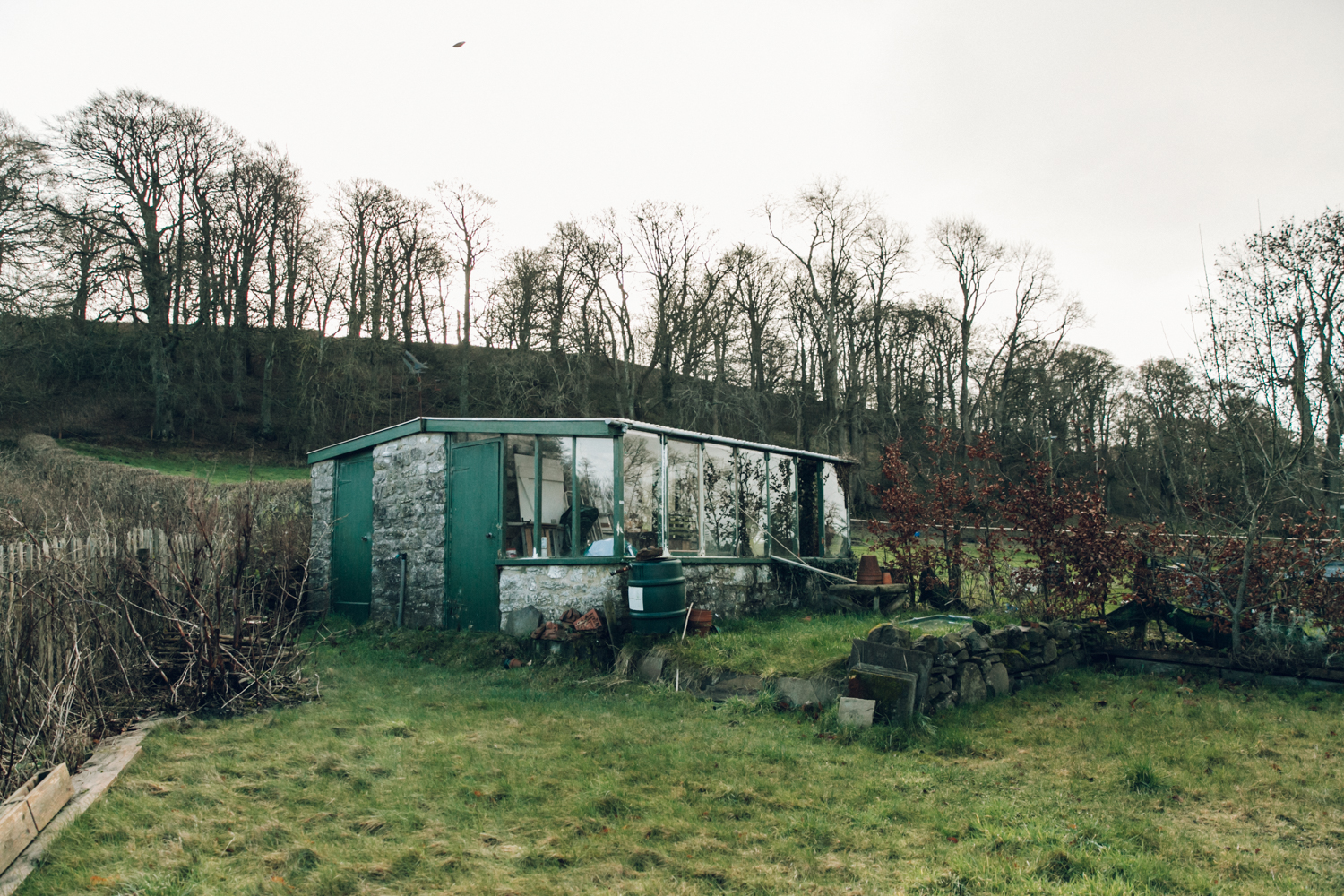 Haarkon Old Radnor Harp Cottage Wales Powys Accommodation Holiday greenhouse shed