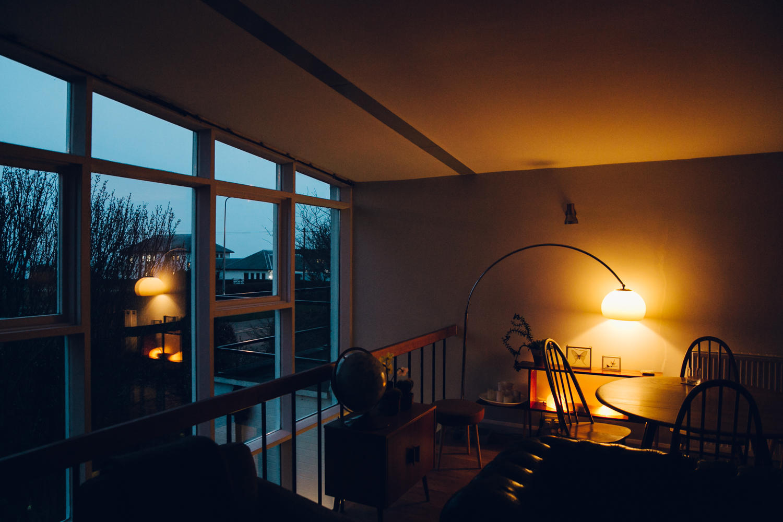 Haarkon 1950s Bridlington House Modernist Midcentury Design Architecture Building Seaside Home Interior time night light