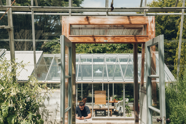 Haarkon Garden Potager Falmouth Cornwall Greenhouse Glasshouse Plants shadow light nature