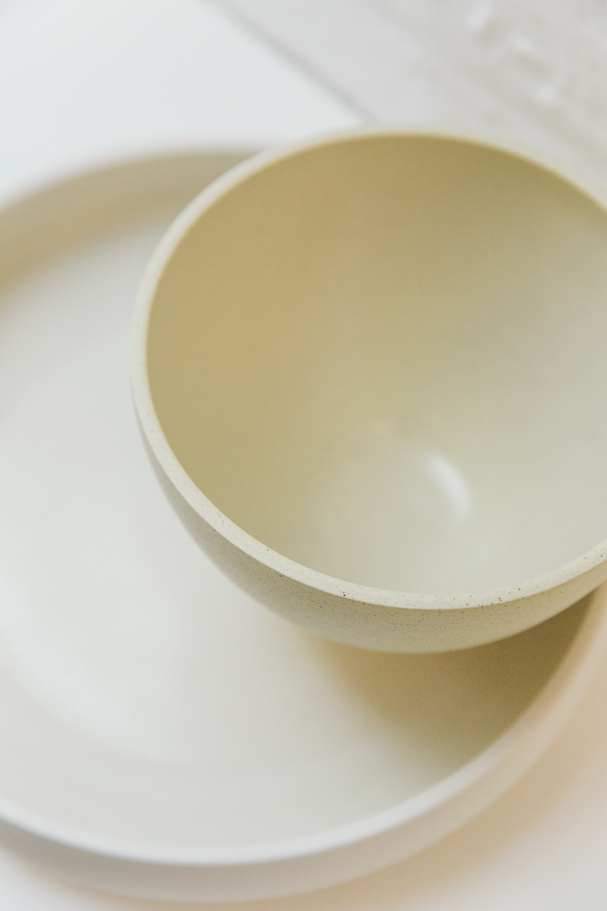 Luke Eastop's yellow ceramic bowls.