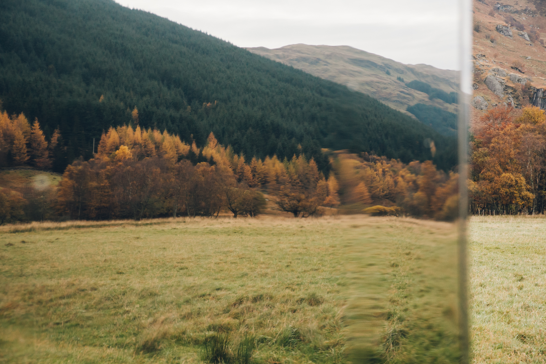 Mirrored Autumnal colours in Scotland.