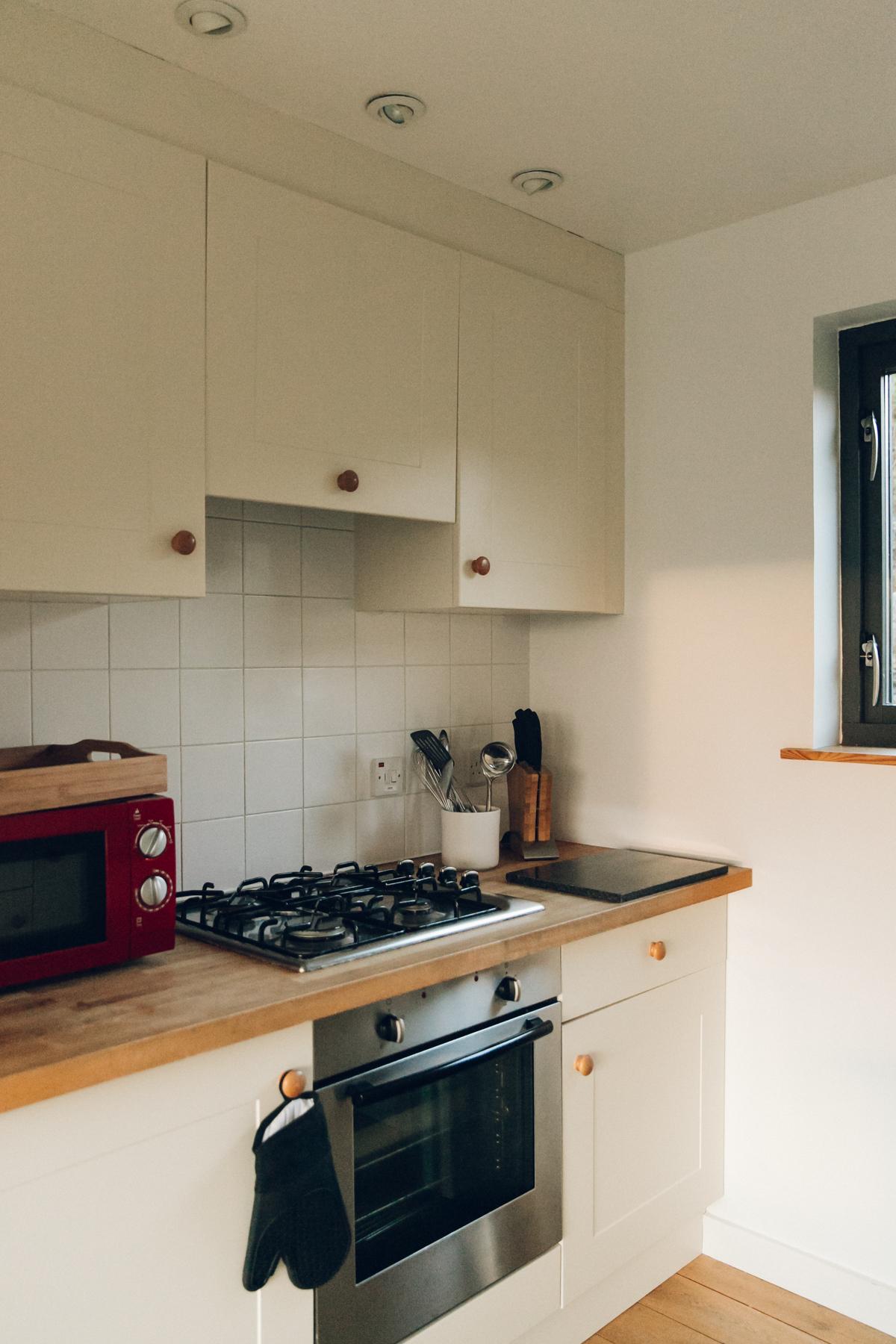 Kitchen details in the Wildlife Croft in Skye - a Scottish hideaway.