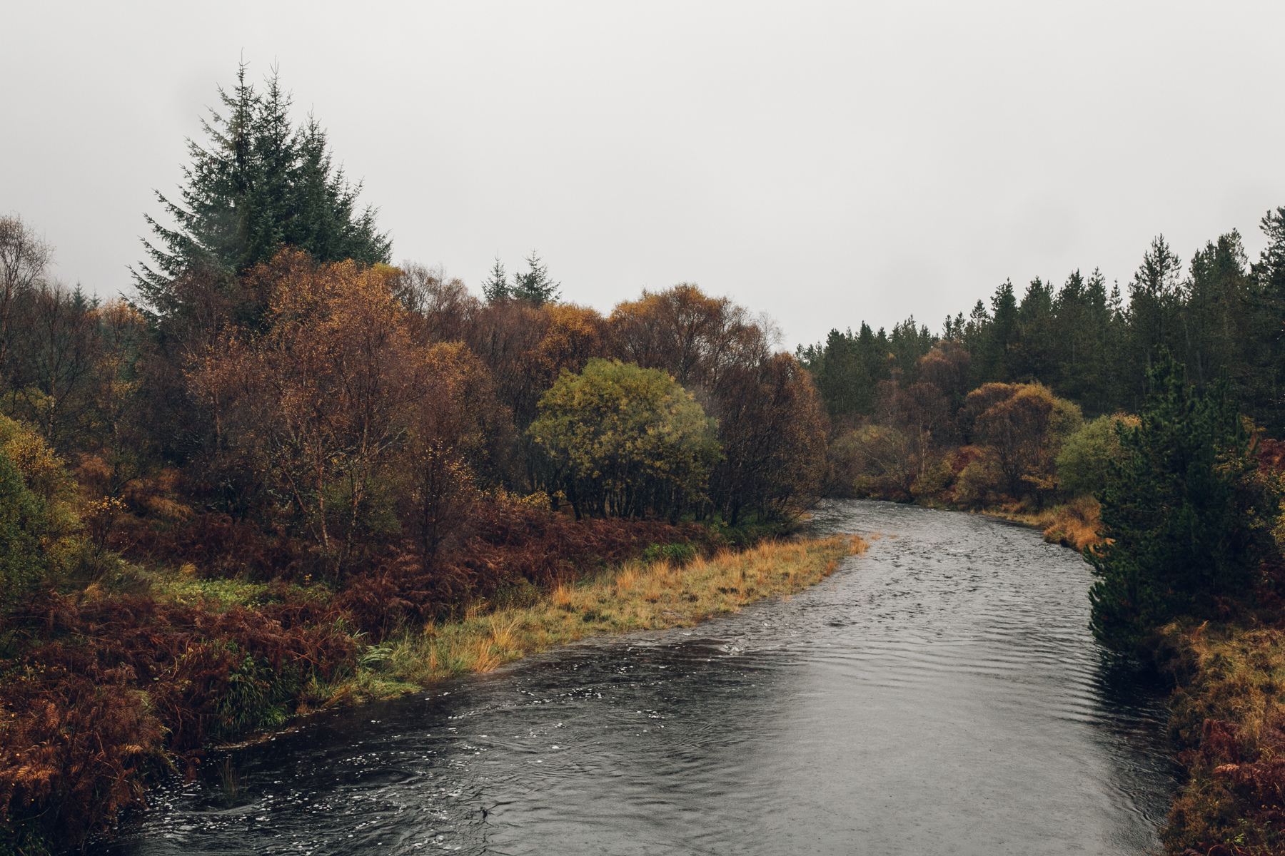 A colourful Autumn river scene.