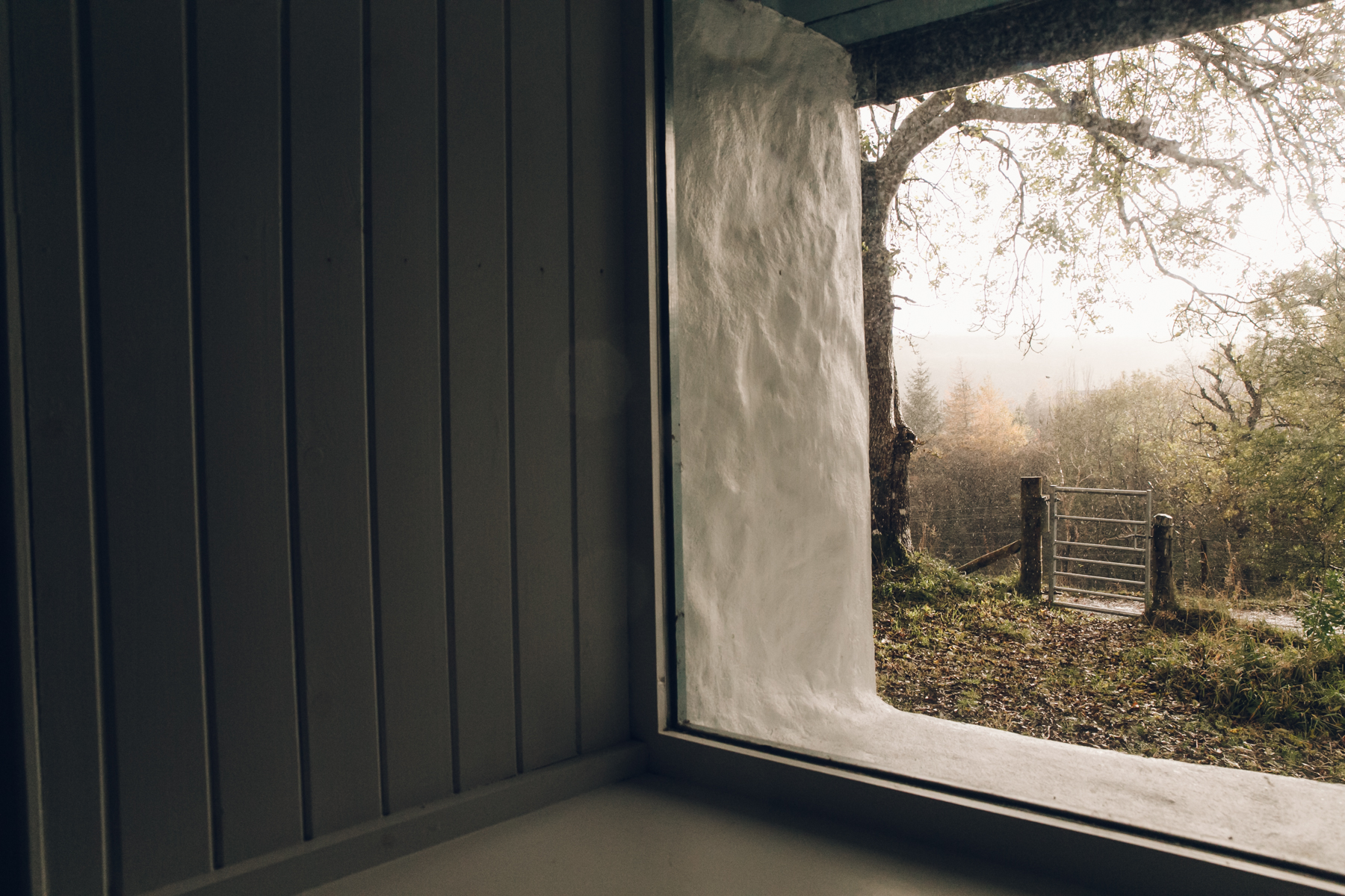 View from inside The Crofter's House on the Isle of Skye.