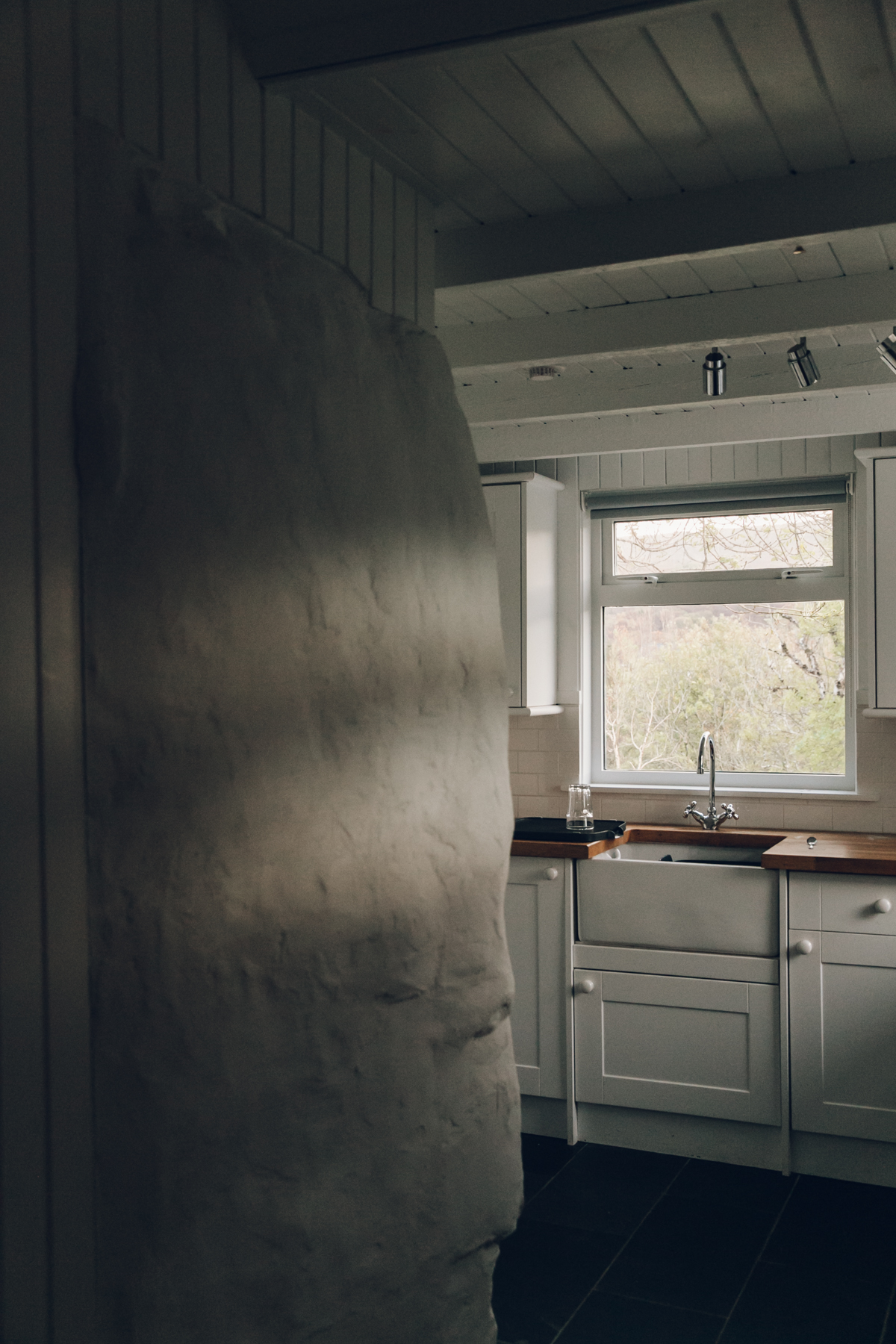 The kitchen inside The Crofter's House on the Isle of Skye.