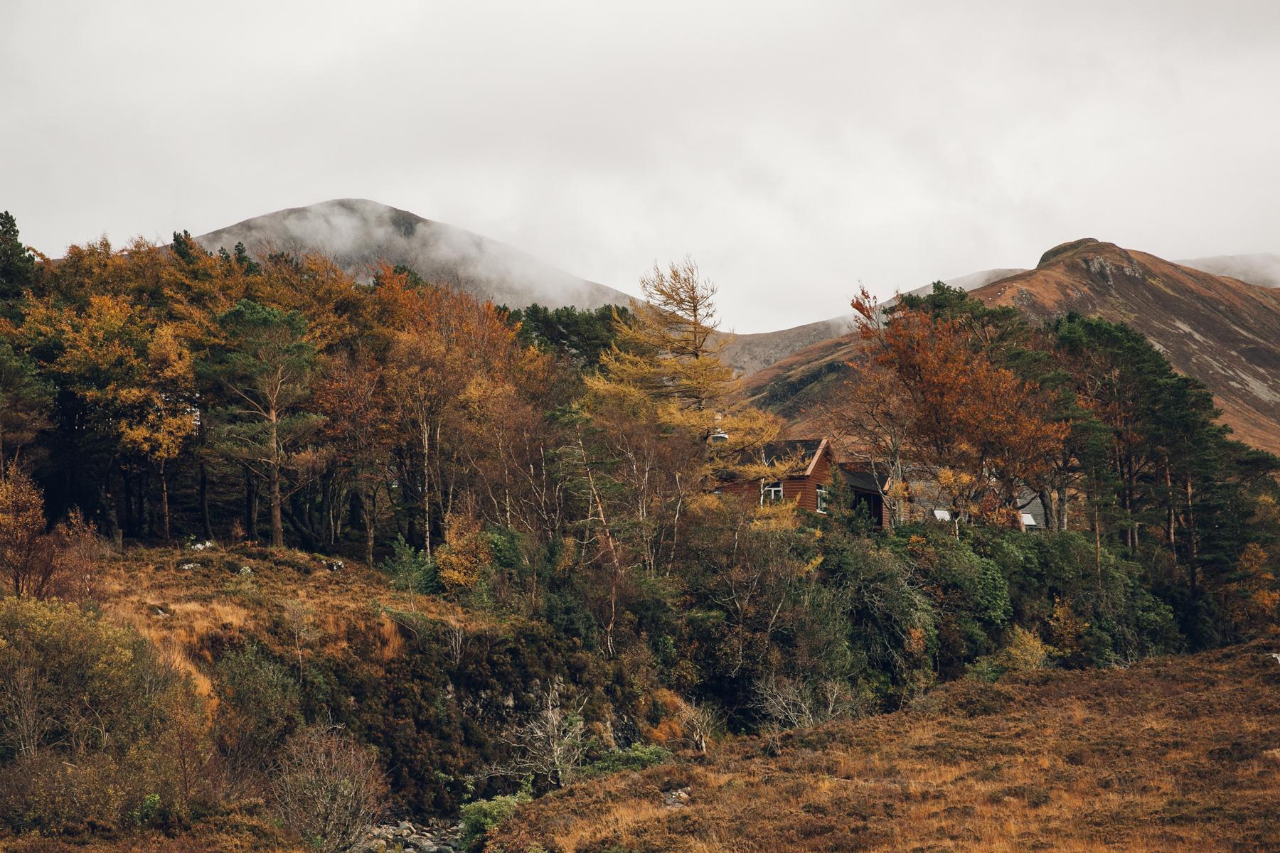 Chocolate-box houses on the Isle of Skye in Scotland.