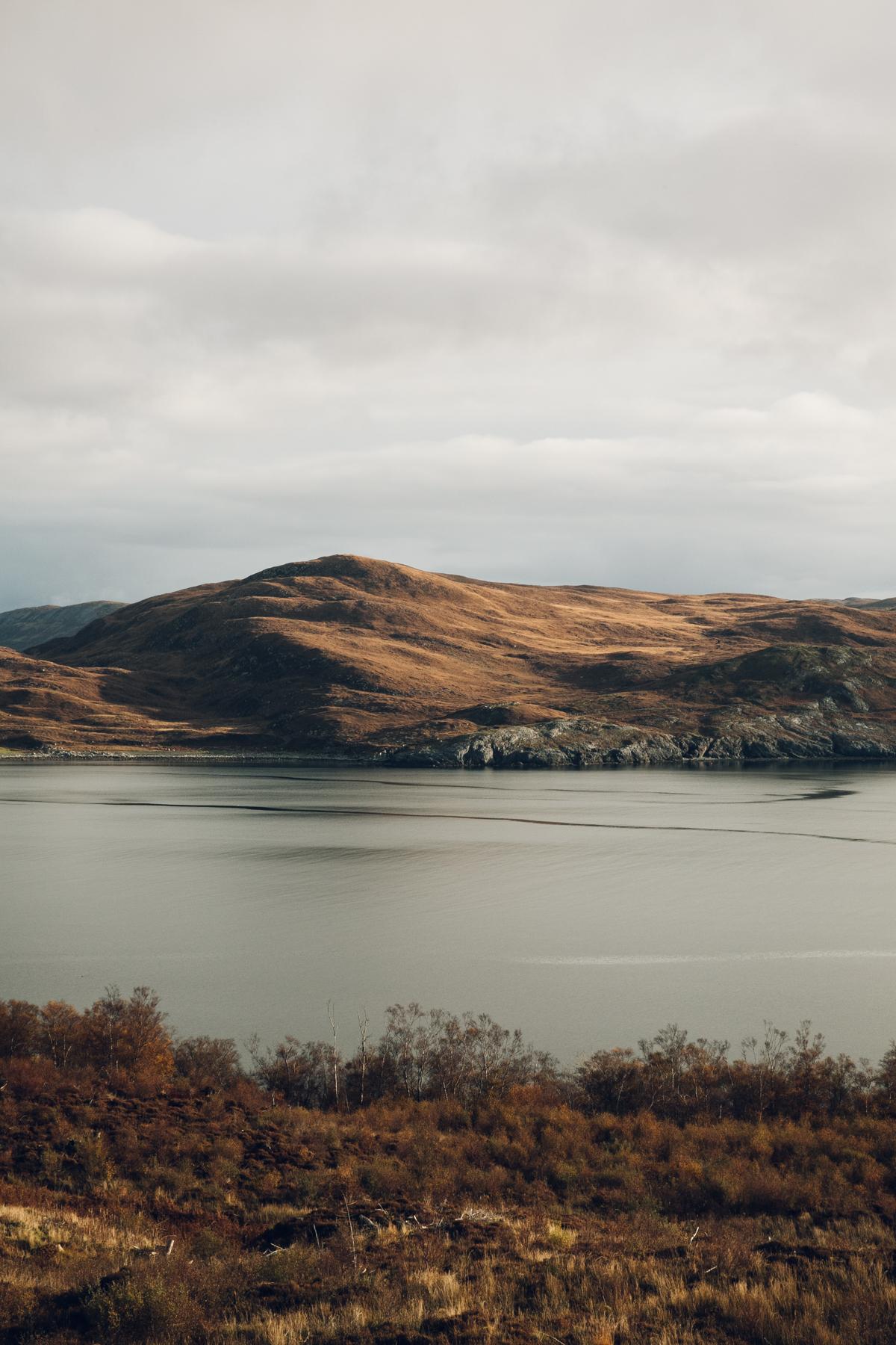 Beautiful light on the Scottish hills.