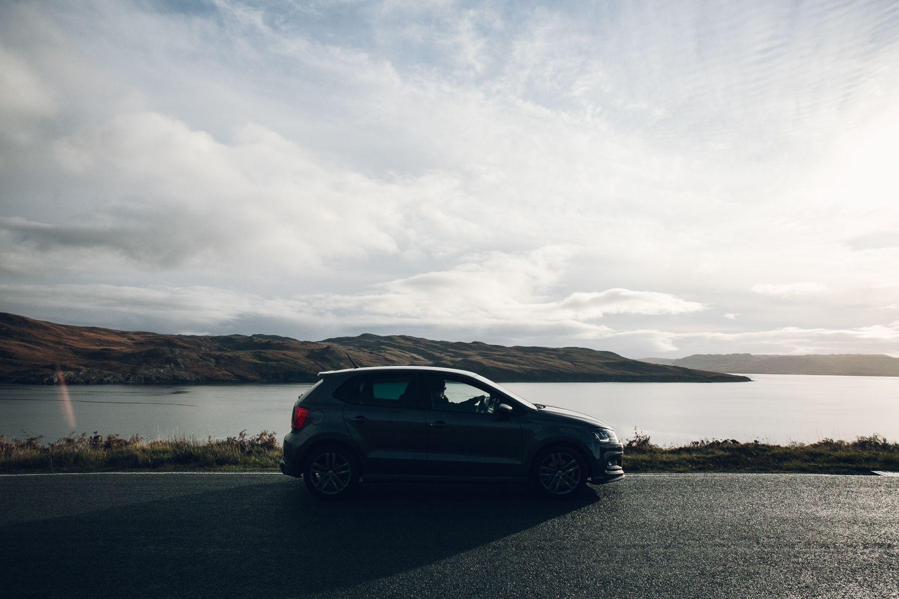 Road trip in our Volkswagen Polo.