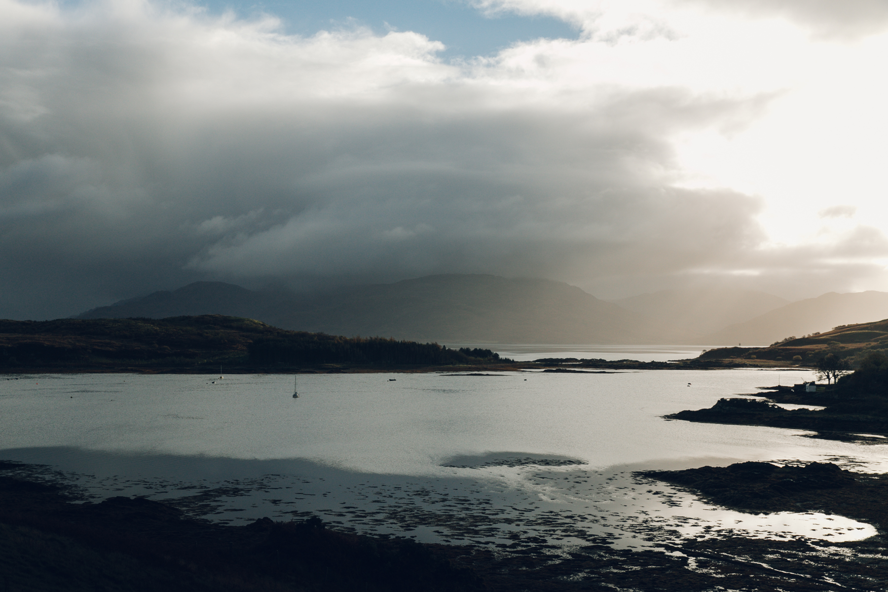 Incredible light over Armadale in Sleat on the Isle of Skye.