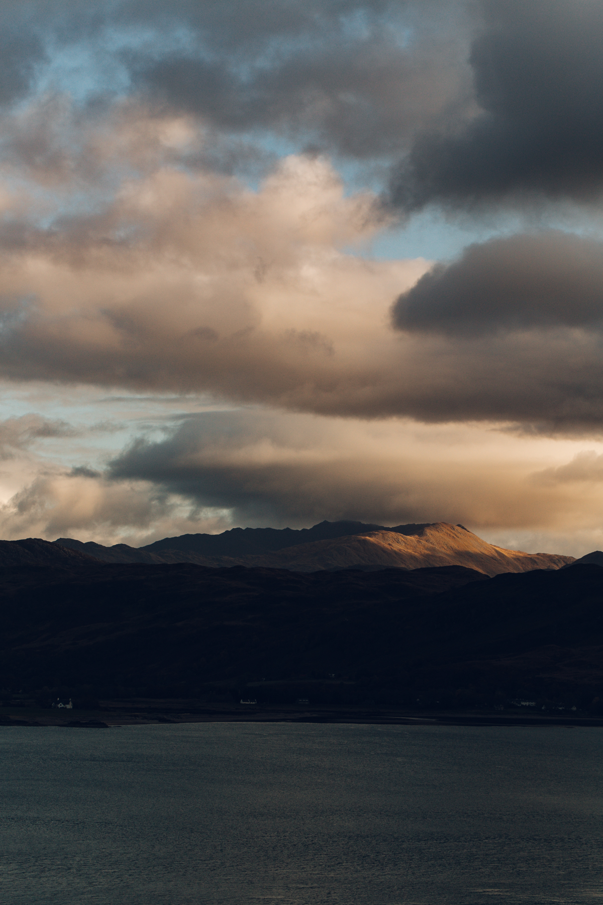 Incredible light over Scottish mountains.