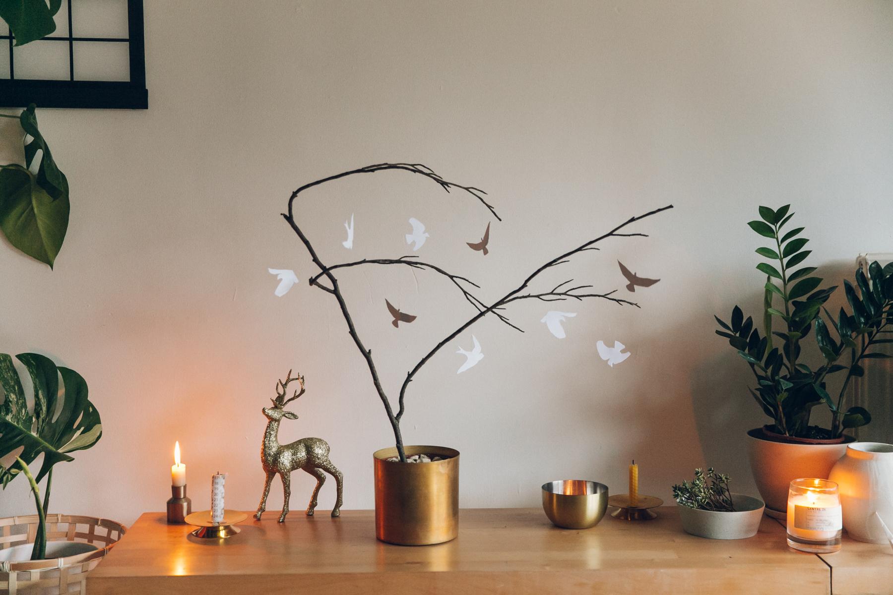 Simple handmade Christmas tree.