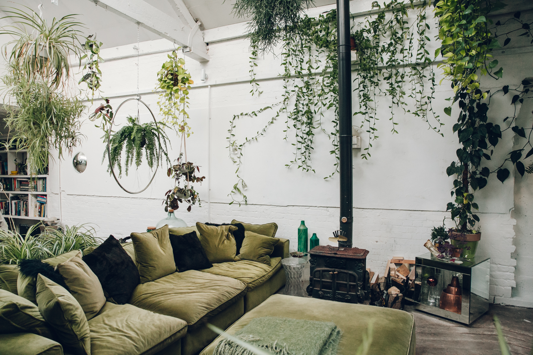 The green living room in Clapton Tram.