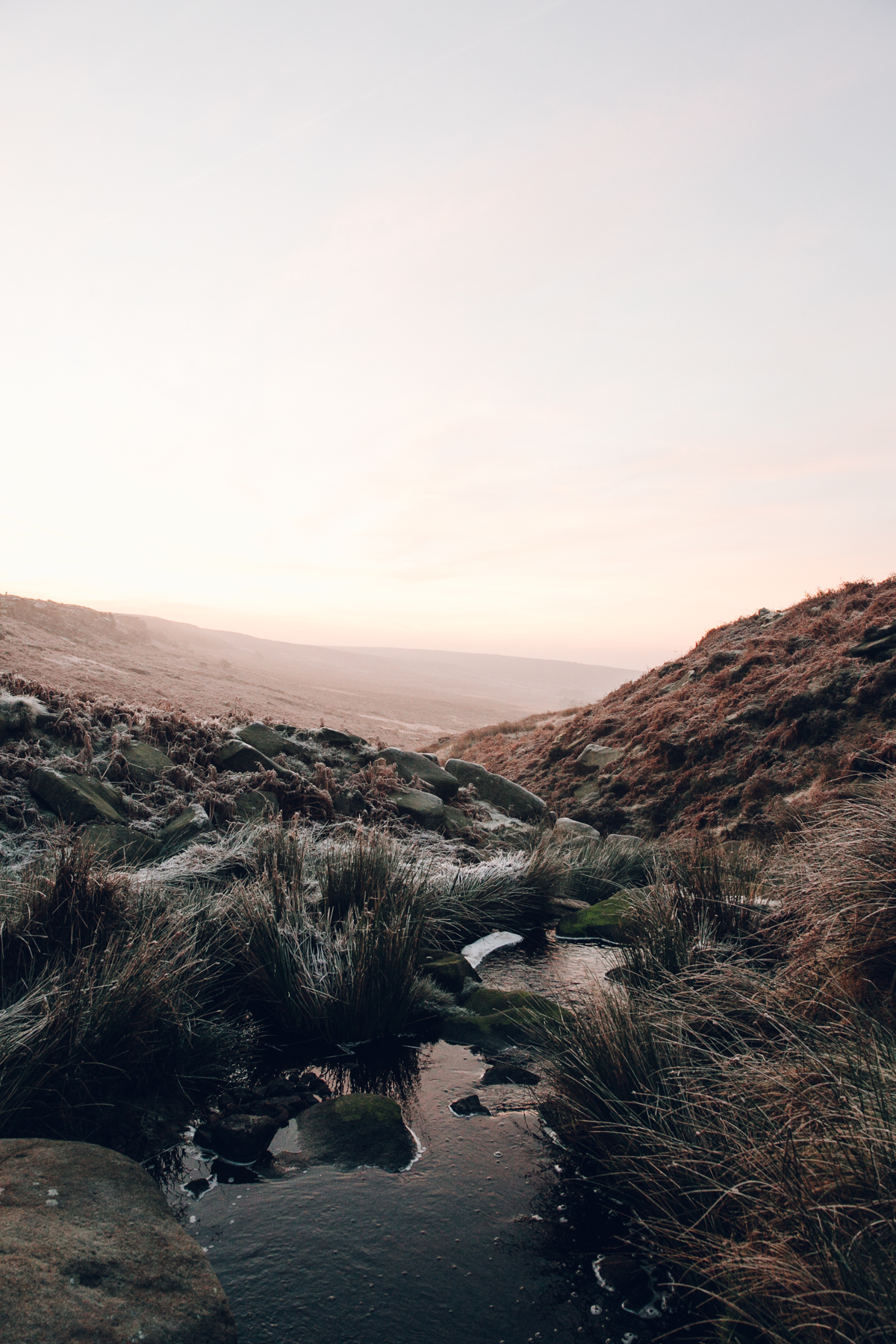 Forty winter morning in the Peak District.