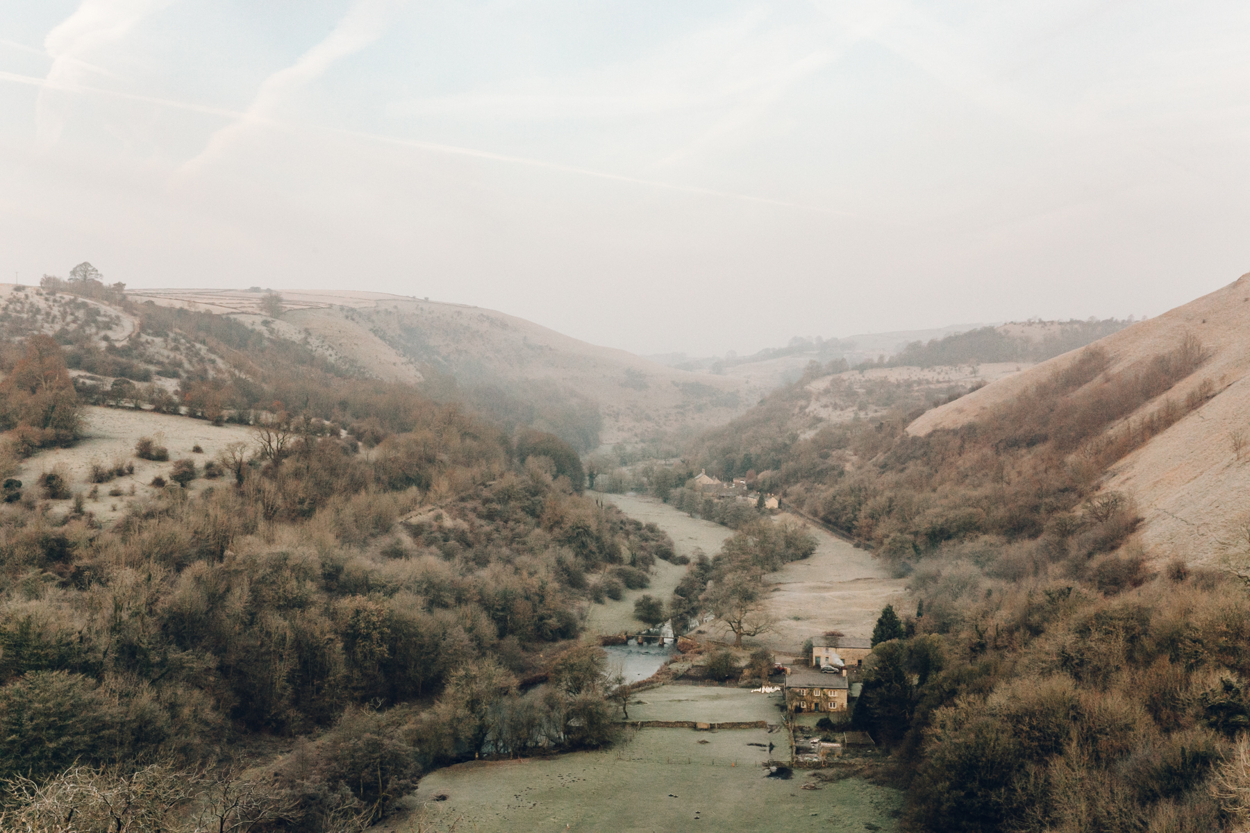 A frosty Winter morning looking over Monsal Dale in the Peak District.