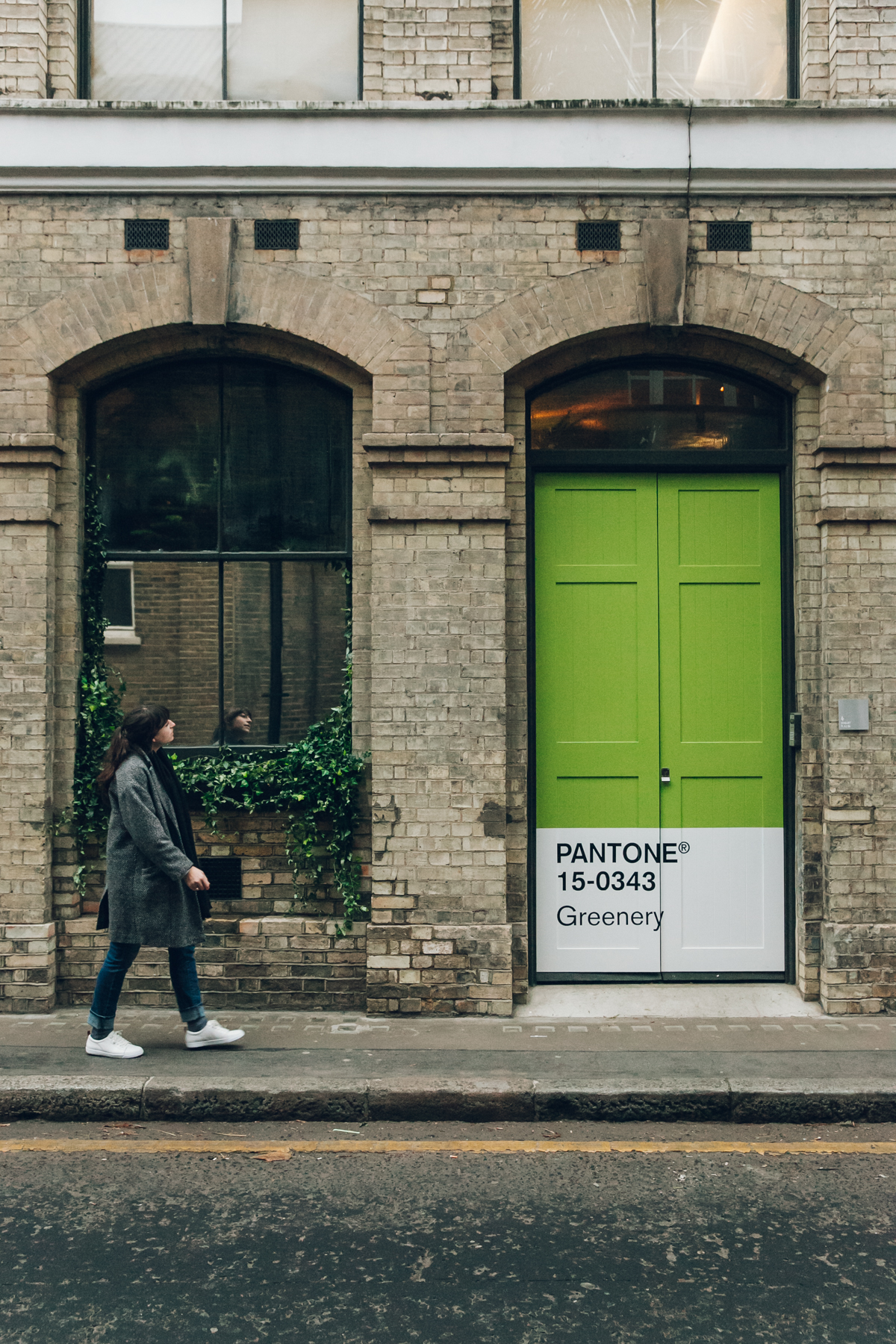 The 'Outside In' house by Pantone & AirBnb in London.